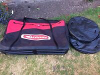Tifosi XL Bike Bag + 2 wheel bags! Perfect condition! Free delivery in Richmond!
