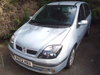 SCENIC 1.4 DYNAMIQUE 52 REG IN SILVER WITH GREY TRIM 100,000 MILES WITH MOT NOVEMBER