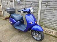 Aprilia Habana 50, W reg, Full MOT, 1 owner from new, only 6700 miles, all original keys etc, £595