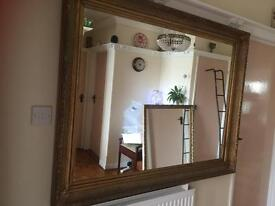 Very large guilt edged mirror