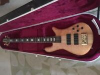 Spector Euro 5 bass guitar with Hiscox Hard case