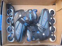 SFR Votex rollerblades/inline skates in blue with adjustable size 3-6