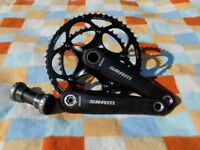 SRAM carbon chainset and BB - very good condition