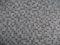 Blue Mosaic cushioned vinyl remnant