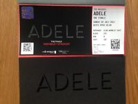 Adele ticket in hand for the finale 2nd July