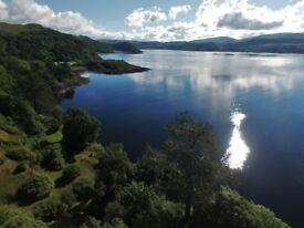 Holiday House Cottage Chalet Rental on Private Estate in Argyll. Dog Friendly, Beach Waterfront