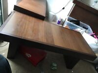 Solid wood table set all in good condition tv m, living room and side table