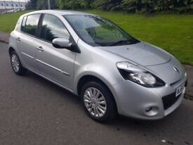 2012 Renault Clio 1.2 i music Low Miles Yrs MOT. 3 month Scotsure Warranty