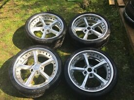 """Genuine AC Schnitzer Type IV Forged 19"""" wheel/tyre set for BMW 5 7 SERIES"""