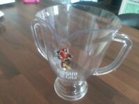 New never been used 11 Captain Morgan branded bar/garden party trophy handled pitchers