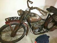 WANTED classic motorcycle. Autocycle. Project. Barn find. Restoration
