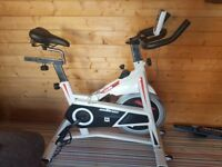 Top of the range exercise bike