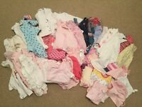 Girls 0-3 months clothing bundle (over 70 items)