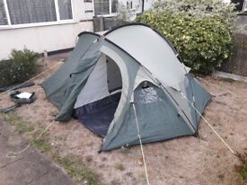 Two-person Eurohike Kent tent, sleeping bag and ground mat