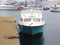 20ft cabin boat px swap for larger boat 70hp outboard great fishing boat pick up Cornwall