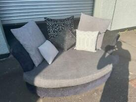 Grey & black DFS cuddle chair delivery 🚚 sofa suite couch furniture