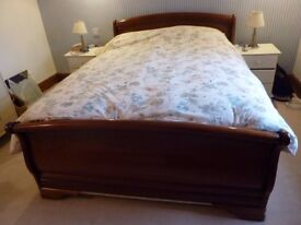 Mahogany sleigh bed frame