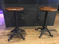 Stool cast iron tractor breakfast stool