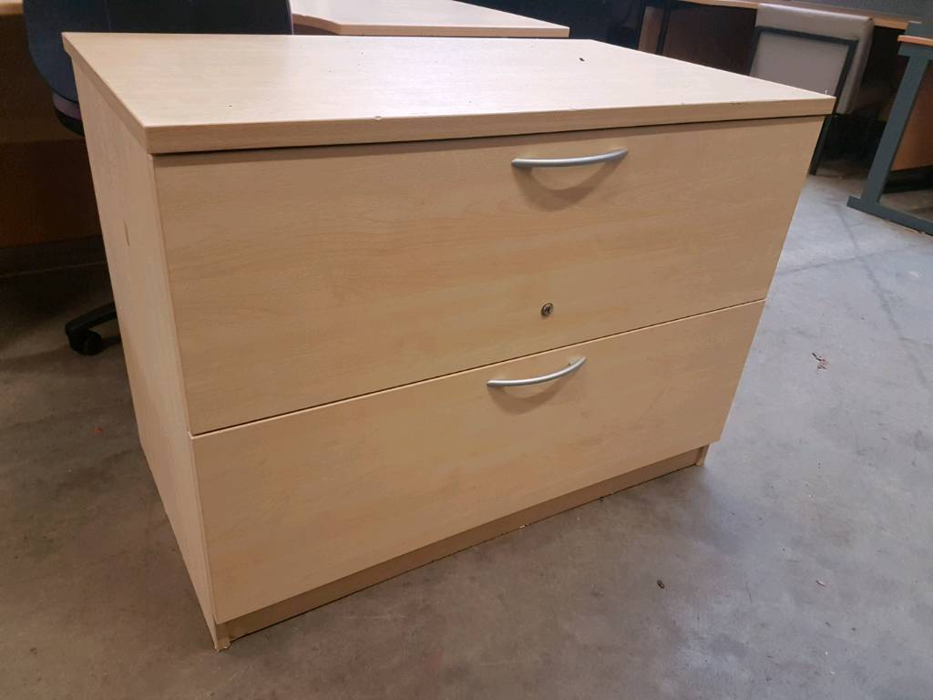 Office set of 2 filing drawers