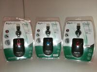 Right-Tec MY62 USB Optical Mouse, Retractable lead (Boxed 40 pcs)