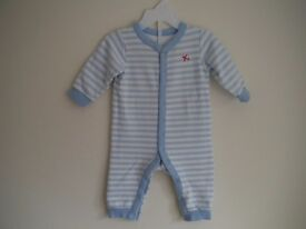 2 x M&S all in one suits for boys size 3-6 months. Excellent condition
