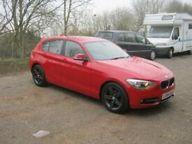 BMW 1 Series 116D SPORT 2014 (red) 2014