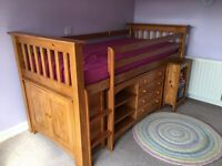 Cabin Bed for sale, solid pine, excellent condition