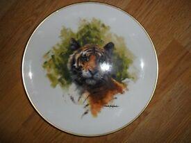 set of 5 x limited edition animal wildlife david shepherd wedgwood display plates