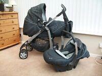 Silver Cross Pushchair - Pram, Car Seat & Changing Bag set.