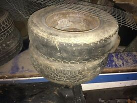 """Classic Mini 10"""" Steel Rims And Tyres"""