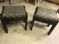 Pair of solid oak bar stools