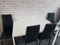 Meltorp Ikea dining table with 4 chairs