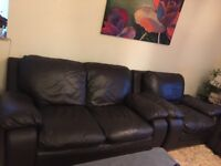 Set of high quality leather sofas