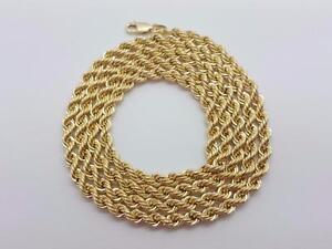 Chaine Torsade en or 10 karat 4 mm Neuf / Rope Chain 10 karat Gold Yellow Gold Brand new