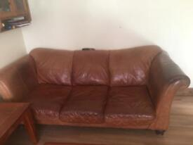 DFS 2 and 3 seater with 2 pouffes