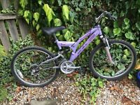 Girls Suspension Mountain Bike age 8 plus