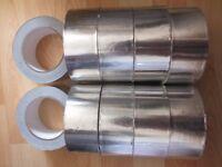 10 rolls SELF ADHESIVE ALUMINIUM FOIL TAPE Heat,Duct,insulation 45m x 50mm
