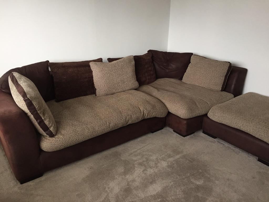 corner sofa swivel cuddle chair and footstool dfs. Black Bedroom Furniture Sets. Home Design Ideas