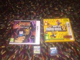 Nintendo 3DS Games, 2 boxed. 2 with no boxes