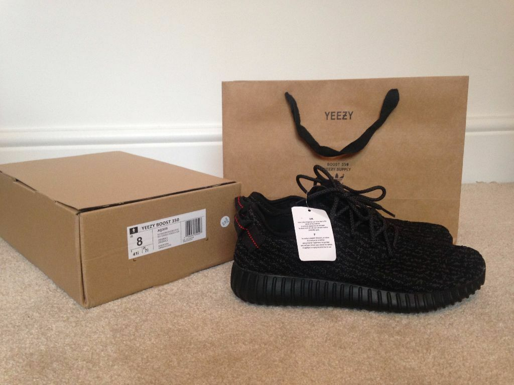 Adidas Yeezy Boost 350 Pirate Black UK 8 - Next day delivery! | in