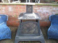 large garden log burner