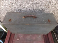 vintage wooden toolbox suitcase in very good condition see all 3 images sign cheap