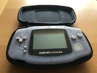 GameBoy Advance (GBA) Console & Gamester Travel Case - Great Condition