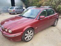 Jaguar X Type Diesel....Deep red with cream leather interior....full mot...