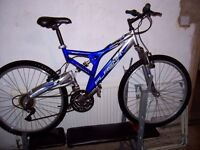 mans double suspension bike