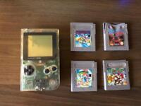 Original Gameboy Pocket transparent with games