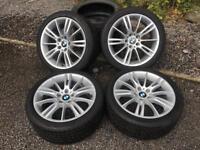 "BMW 18"" MV3 alloys with winter tyres"