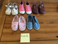 Girls shoes size ranges 5 to 6.5