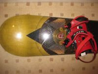 Ride Prophet 168cm stiff downhill snowboard with Ride RX bindings