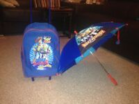 Toy story trolley bag and umbrella